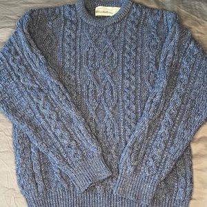Arancrafts Cable Knit Chunky 100% Wool Sweater, L